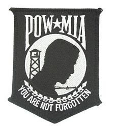 POW/MIA 4 inch Patches